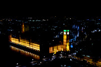Aerial view of the Houses of Parliament and Westminster Abbey